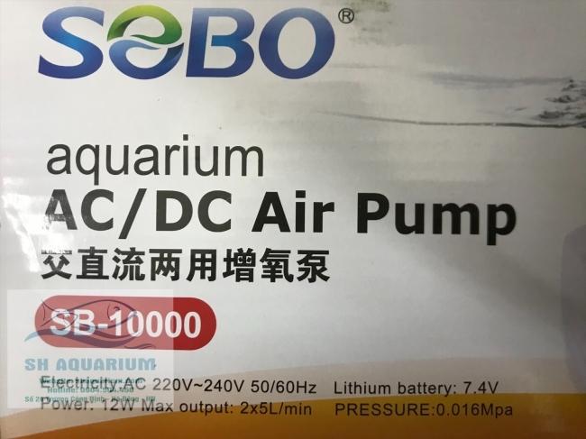 Máy sủi tích điện SOBO 10000