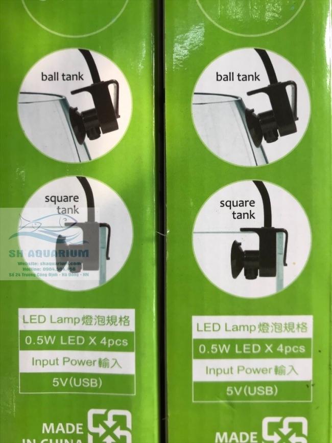 Đèn Led Up Aqua Pro MF-R Đen