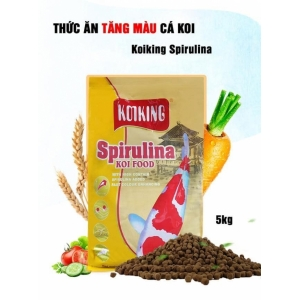 Thức ăn cá Koi Koiking Spirulina Tăng Màu (5kg-SizeM)